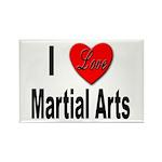 I Love Martial Arts Rectangle Magnet (10 pack)