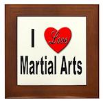 I Love Martial Arts Framed Tile
