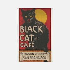 San Francisco Black Cat Cafe Rectangle Magnet