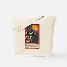 San Francisco Black Cat Cafe Tote Bag