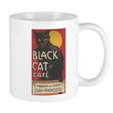 San Francisco Black Cat Cafe Mug