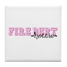 Fire Dept Hottie Jersey Style Tile Coaster