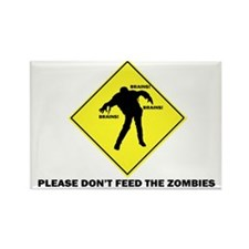 Don't Feed The Zombies Rectangle Magnet