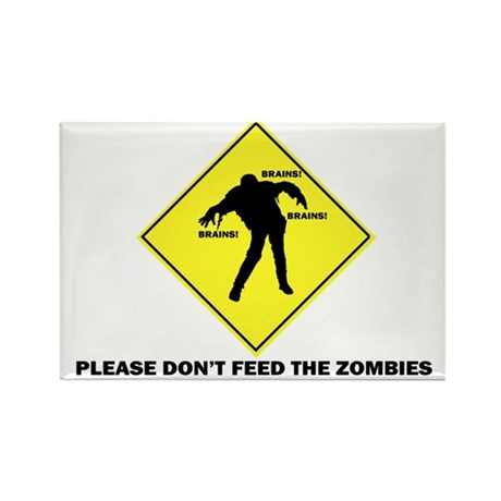 Don't Feed The Zombies Rectangle Magnet (10 pack)