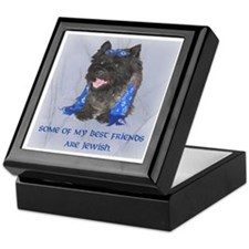 """Some of my Best Friends. . .Jewish Cairn Tile Box"