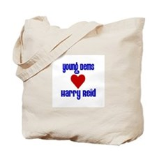 Young Dems Love Harry Reid! Tote Bag