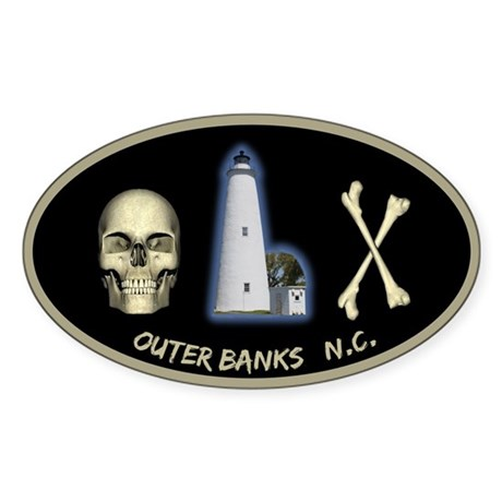 OBX Oval Sticker