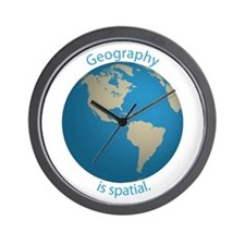 Geography is Spatial Wall Clock