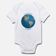 Geography is Spatial Infant Bodysuit