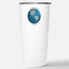 Geography is Spatial Travel Mug