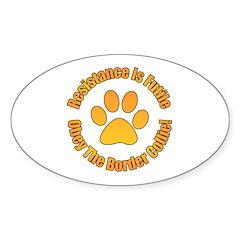 Border Collie Oval Sticker (10 pk)