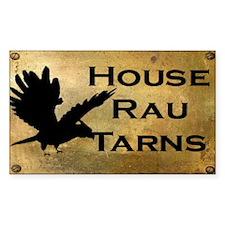 House Rau Brass Logo Rectangle Decal