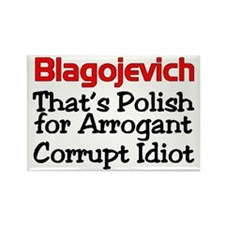 Unique Blagojevich Rectangle Magnet