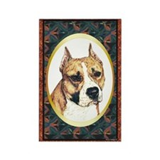 Cute Pit bull terrier design Rectangle Magnet