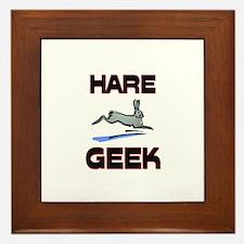 Hare Geek Framed Tile