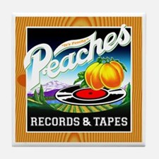 Peaches Records & Tapes Tile Coaster
