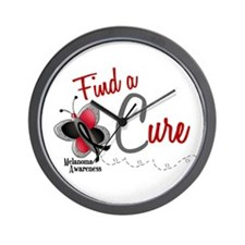 Find A Cure 1 Butterfly 2 MELANOMA Wall Clock