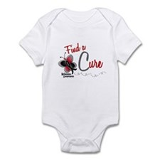 Find A Cure 1 Butterfly 2 MELANOMA Infant Bodysuit