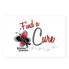 Find A Cure 1 Butterfly 2 MELANOMA Postcards (Pack