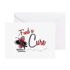 Find A Cure 1 Butterfly 2 MELANOMA Greeting Card