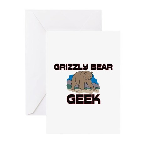 Grizzly Bear Geek Greeting Cards (Pk of 10)