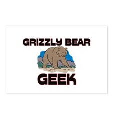 Grizzly Bear Geek Postcards (Package of 8)