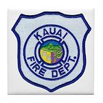 Kauai Fire Department Tile Coaster
