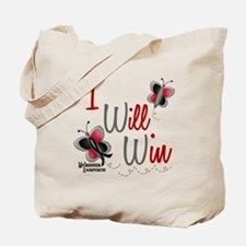 I Will Win 1 Butterfly 2 MELANOMA Tote Bag
