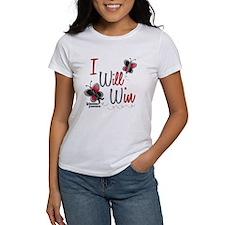 I Will Win 1 Butterfly 2 MELANOMA Tee