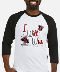 I Will Win 1 Butterfly 2 MELANOMA Baseball Jersey