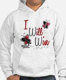I Will Win 1 Butterfly 2 MELANOMA Hoodie