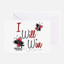 I Will Win 1 Butterfly 2 MELANOMA Greeting Card
