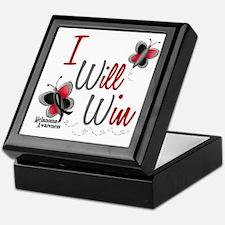 I Will Win 1 Butterfly 2 MELANOMA Keepsake Box