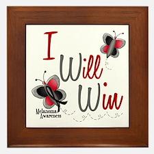 I Will Win 1 Butterfly 2 MELANOMA Framed Tile