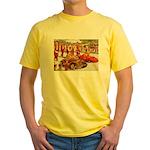 Shriner Mini Cars Yellow T-Shirt