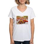 Shriner Mini Cars Women's V-Neck T-Shirt