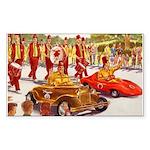 Shriner Mini Cars Rectangle Sticker 10 pk)