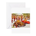 Shriner Mini Cars Greeting Cards (Pk of 20)