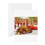 Shriner Mini Cars Greeting Cards (Pk of 10)