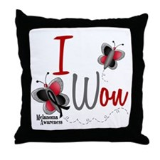 I Won 1 Butterfly 2 MELANOMA Throw Pillow