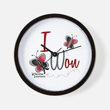 I Won 1 Butterfly 2 MELANOMA Wall Clock