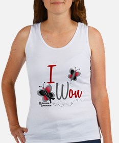 I Won 1 Butterfly 2 MELANOMA Women's Tank Top