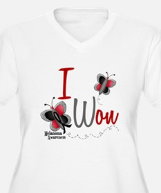 I Won 1 Butterfly 2 MELANOMA T-Shirt
