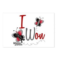 I Won 1 Butterfly 2 MELANOMA Postcards (Package of