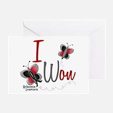 I Won 1 Butterfly 2 MELANOMA Greeting Card