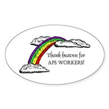 Thank Heaven APS Oval Decal