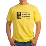 Mark Twain 29 Yellow T-Shirt