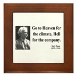 Mark Twain 29 Framed Tile