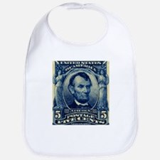 US Abraham Lincoln 5c stamp Bib