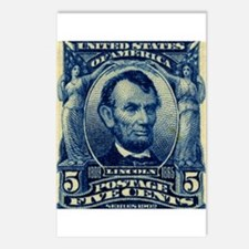 US Abraham Lincoln 5c stamp Postcards (Package of